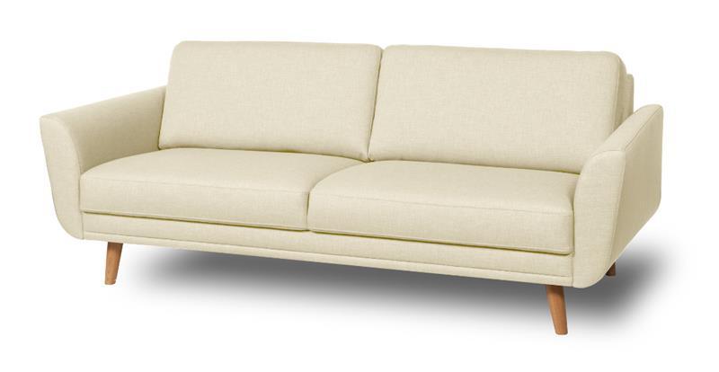 Happy sohva, 2,5 istuttava, valkoinen