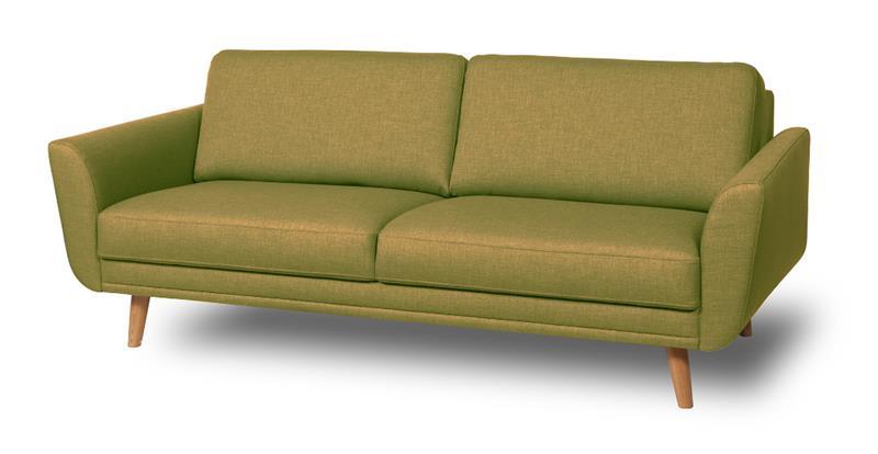 Happy sohva, 2,5 istuttava, vihreä