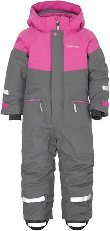 Didriksons Cornelius lasten talvihaalari, harmaa-pinkki 130