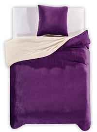 Teddy Violet -pussilakanasetti, 200 x 200 cm + 2 x tyynyliina 80 x 80 cm