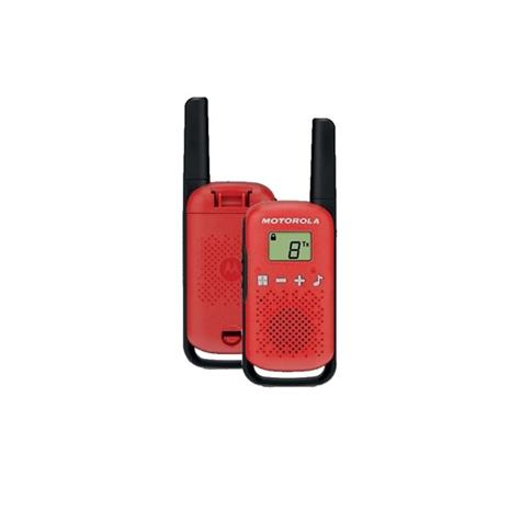 Motorola Talkabout T42 radiopuhelin tuplapakkaus punainen
