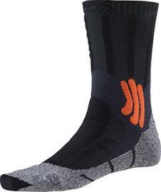 X-Socks Trek Dual sukat Miehet, granite grey/bonfire orange