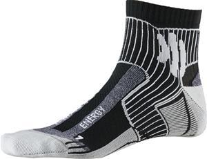 X-Socks Marathon Energy juoksusukat Miehet, black/anthracite print