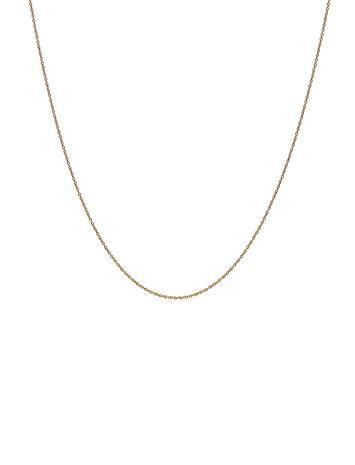 Design Letters Necklace Chain 40 Cm SILVER