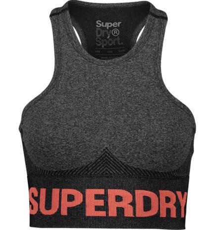 Superdry W ACTIVE SEAMLESS BRA BLACK MARL