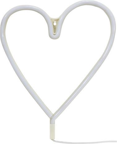 Heart-seinävalaisin, valkoinen