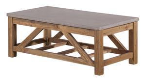 Betoni-sohvapöytä, 120 x 60 x 45 cm