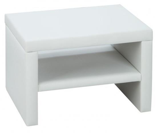 Rino-yöpöytä, valkoinen