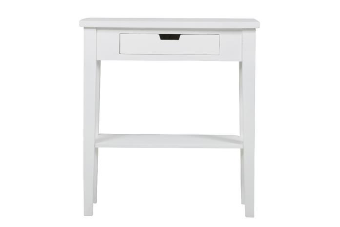 Acazia sivupöytä 70cm, 1-ltkalataso, valkoinen
