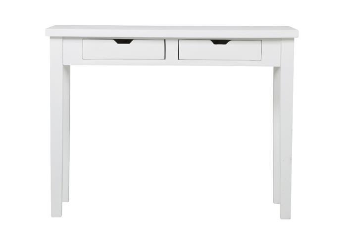 Acazia sivupöytä 100cm , 2-ltk valkoinen