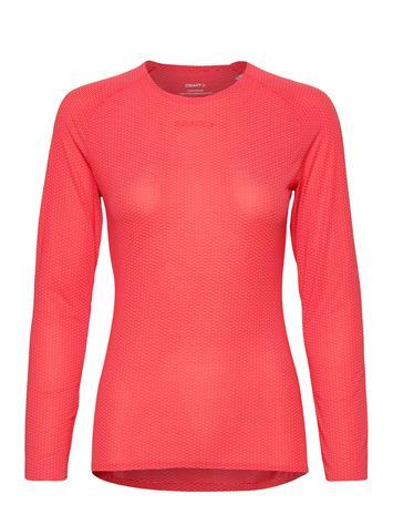 Craft Pro Dry Nanoweight Ls W T-shirts & Tops Long-sleeved Punainen Craft CRUSH