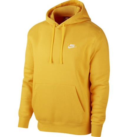 Nike M NSW CLUB HOODIE PO BB UNIVERSITY GOLD