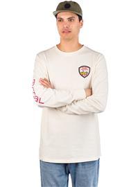 Coal Wallowed Long Sleeve T-Shirt whisper white Miehet