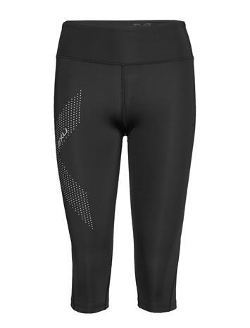 2XU Mid-Rise Comp 3/4 Tights-W Running/training Tights Musta 2XU BLACK/BLOSSOM DUO TONE