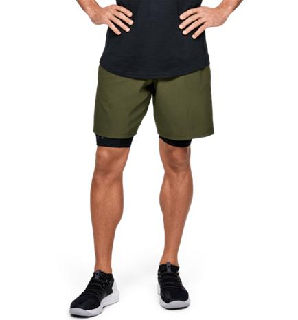 Under Armour M PROJECT ROCK UNSTOPPABLE SHORT GUARDIAN GREEN/BLA