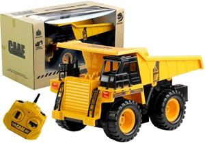Radio-ohjattava kippiauto, keltainen