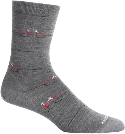 Icebreaker Lifestyle Fine Gauge Cadence Crew Socks, gritstone heather