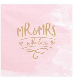 Mr & Mrs suuri lautasliina 20 kpl/pkt