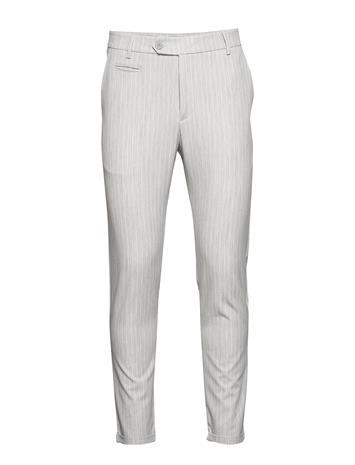 Les Deux Como Light Pinstripe Suit Pants Puvun Housut Suorat Housut Harmaa Les Deux GREY MELANGE/OFF WHITE