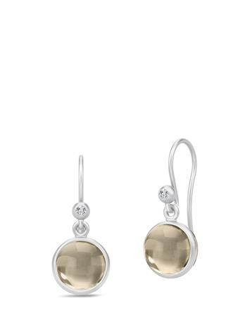 Julie Sandlau Primini Earrings - Rhodium/Smo Hopea