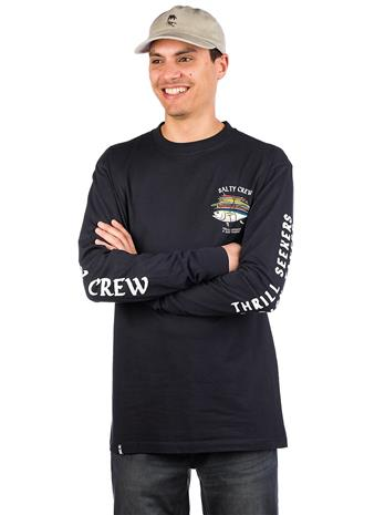 Salty Crew Voyager Long Sleeve T-Shirt navy Miehet