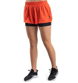 Tommy Sport W 3INCH 2IN1 WOVEN SHORT LBR BRIGHT VERMILLION