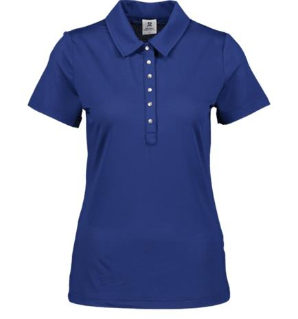Daily Sports W ABBY CAP SS POLO NIGHT BLUE