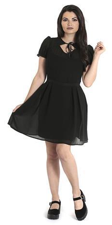Hell Bunny - Aria Mini Dress - Lyhyt mekko - Naiset - Musta