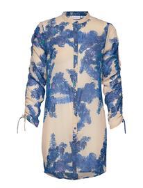 Coster Copenhagen Shirt W. Tie String At Sleeves Tunika Sininen Coster Copenhagen FEATHER BLOOM BLUE