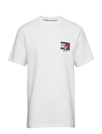 Tommy Jeans Tjm Lo Y Tunes Tee T-shirts Short-sleeved Valkoinen Tommy Jeans WHITE
