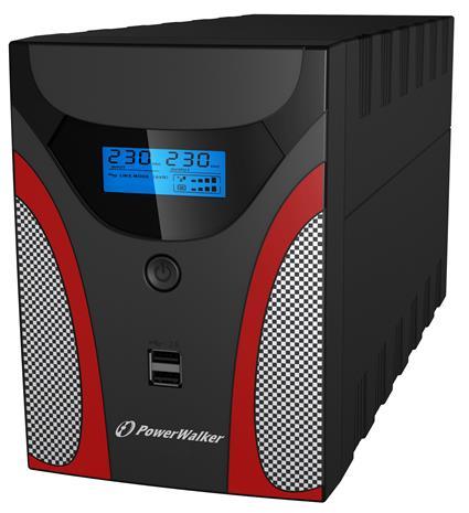 PowerWalker VI 2200 GX FR (10121055) 2200VA Type E, UPS-laite