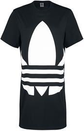 Adidas - LRG Logo Dress - Keskipitkä mekko - Naiset - Musta valkoinen
