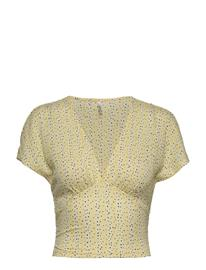ONLY Onlpella S/S Aop Top Jrs T-shirts & Tops Short-sleeved Keltainen ONLY PINEAPPLE SLICE