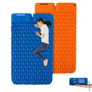Naturehike ilmatäytteinen makuualusta tyynyillä 2hlö - Oranssi
