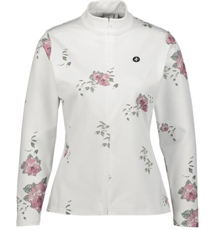 Cross Sportswear W CUT FULL ZIP FLOWER WHITE