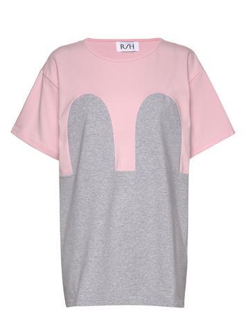 R/H Studio Mickey Loose Tee T-shirts & Tops Short-sleeved Harmaa R/H Studio LIGHT GREY / BLACK