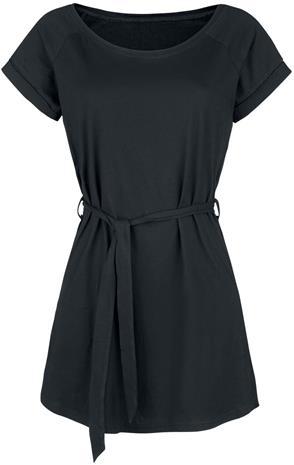 Forplay - Jersey Dress With Tie Waist - Lyhyt mekko - Naiset - Musta