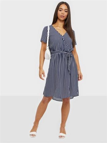 Vila Viprimera Wrap S/S Dress-Fav Lux