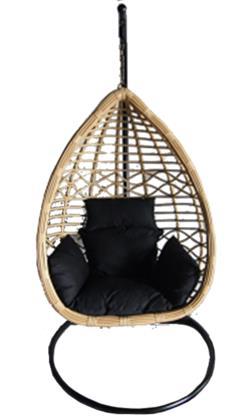 Riipputuoli Aruba Tyylikäs rottinkinen tuoli pehmusteilla!