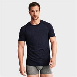 Light Wool T-shirt Men, Dark Navy