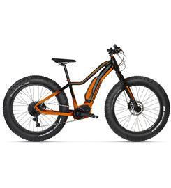 Tunturi eMAX 2020 Fatbike -sähköpyörä, 50 cm, mattamusta/oranssi