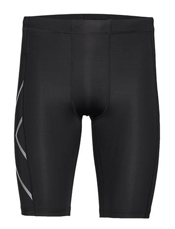 2XU Core Compression Shorts-M Shorts Sport Shorts Musta 2XU BLACK/SILVER, Miesten housut ja shortsit