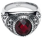 etNox hard and heavy - Dark Ruby - Sormus - Unisex - Hopea punainen