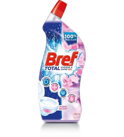 Bref Total Hygiene & Shine Floral Delight 700 ml wc-puhdistusaine