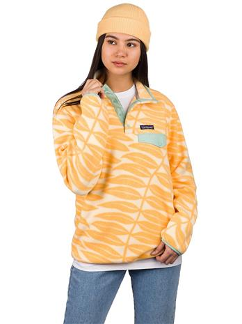 Patagonia LW Synchilla Snap-T Sweater eucalyp fronds vela peach Naiset