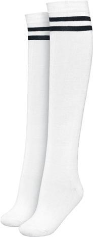 Urban Classics - Pitkät sukat - Polvisukat - Naiset - Valkoinen musta