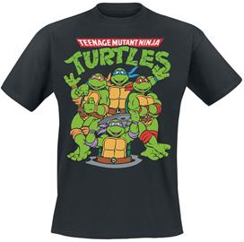 Teenage Mutant Ninja Turtles - Group - T-paita - Miehet - Musta