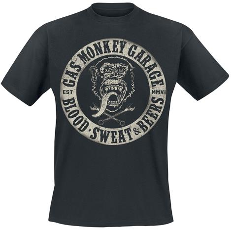 Gas Monkey Garage - Blood, Sweat & Beers - T-paita - Miehet - Musta