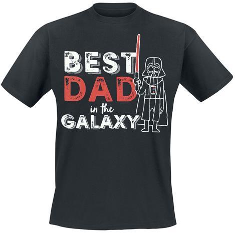 Star Wars - Darth Vader - Best Dad In the Galaxy - T-paita - Miehet - Musta