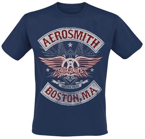 Aerosmith - Boston Pride - T-paita - Miehet - Laivastonsininen